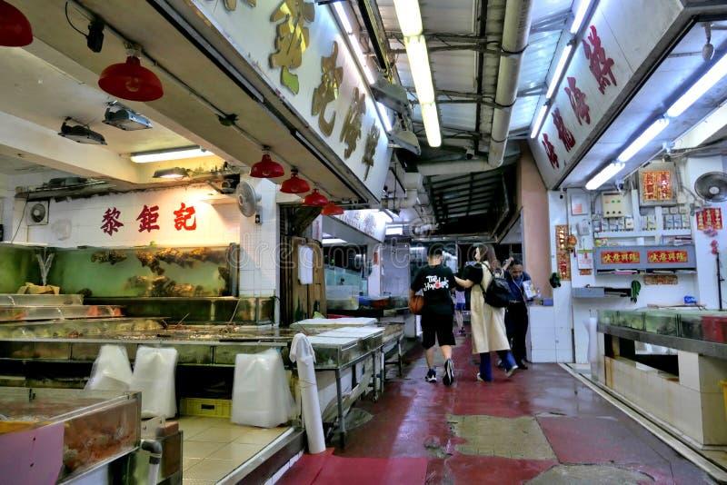 Αγορά θαλασσινών στο ψαροχώρι Lei Yue Mun στοκ εικόνα