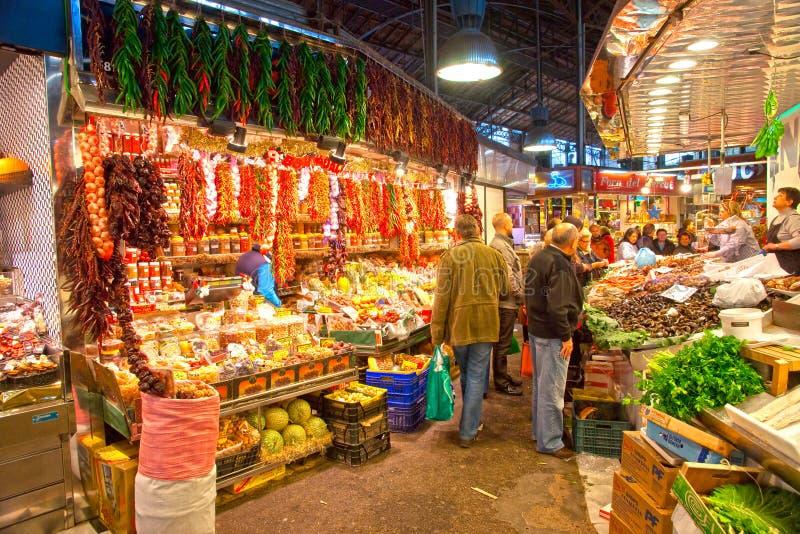 αγορά Ισπανία Λα boqueria της Βαρκελώνης στοκ εικόνες με δικαίωμα ελεύθερης χρήσης