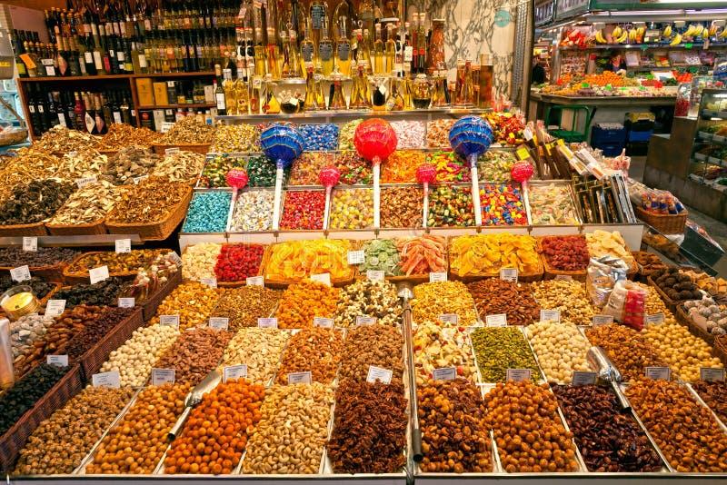αγορά Ισπανία Λα boqueria της Βαρκελώνης στοκ εικόνα