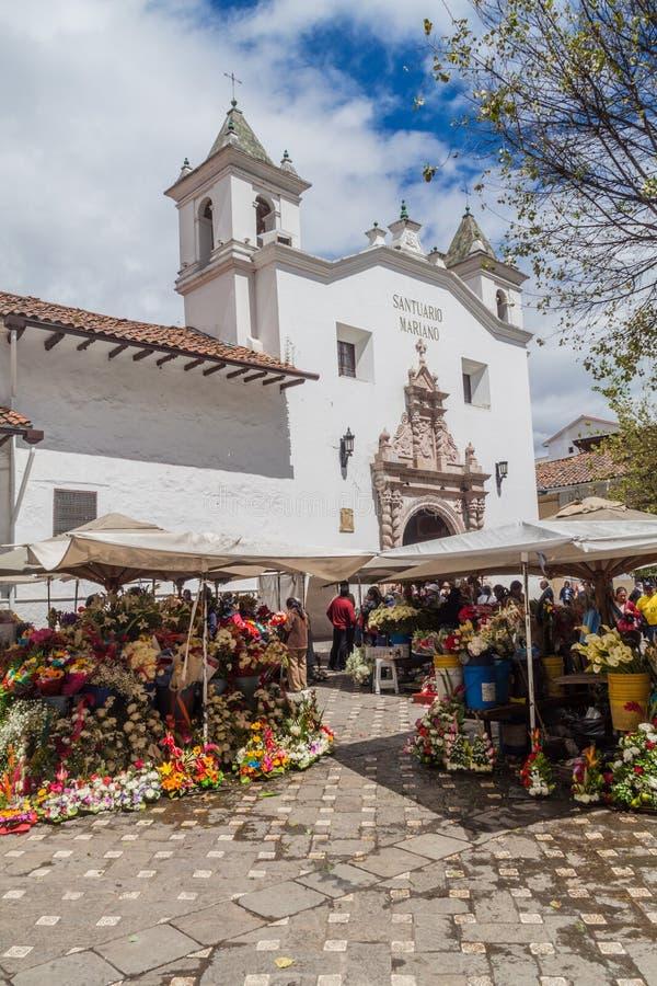 Αγορά και εκκλησία EL Carmen de Λα Asuncion στοκ εικόνες
