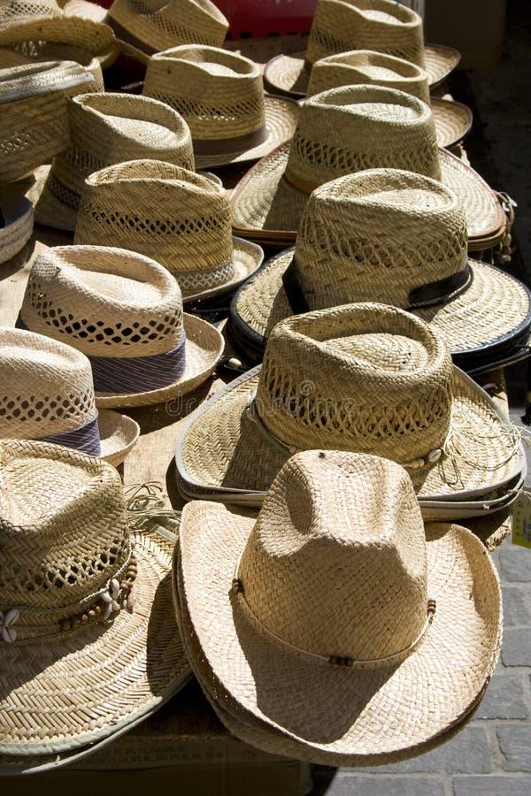αγορά καπέλων στοκ φωτογραφίες