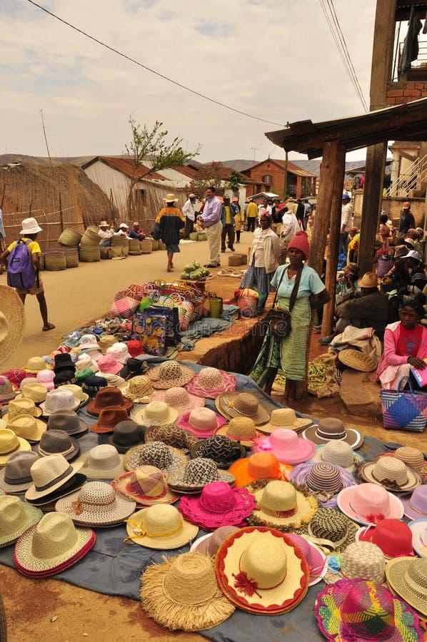 Αγορά καπέλων στοκ εικόνες με δικαίωμα ελεύθερης χρήσης