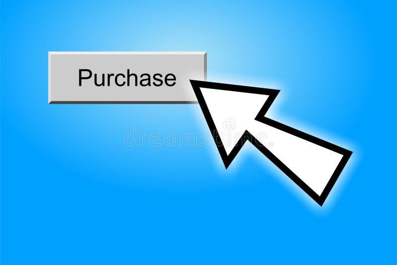 αγορά κουμπιών διανυσματική απεικόνιση