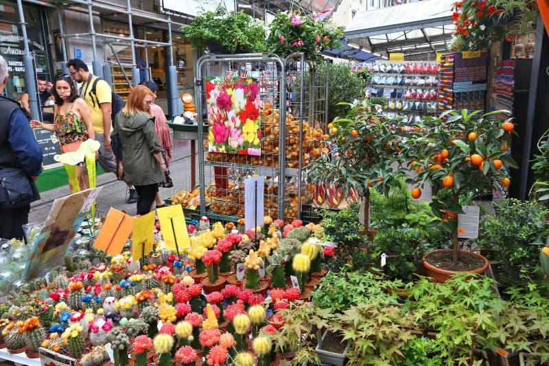 Αγορά λουλουδιών, Άμστερνταμ στοκ εικόνα