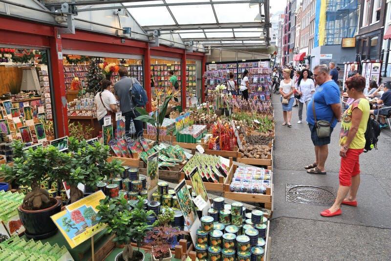Αγορά λουλουδιών του Άμστερνταμ στοκ φωτογραφία