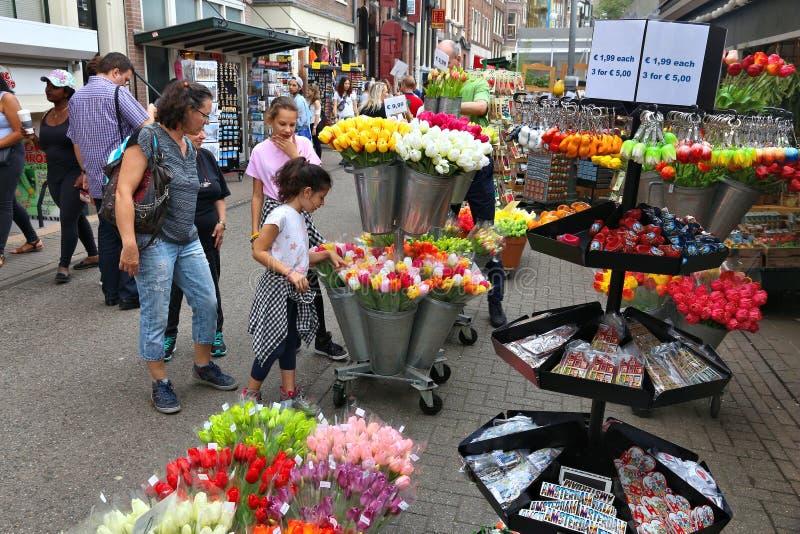 Αγορά λουλουδιών του Άμστερνταμ στοκ εικόνα