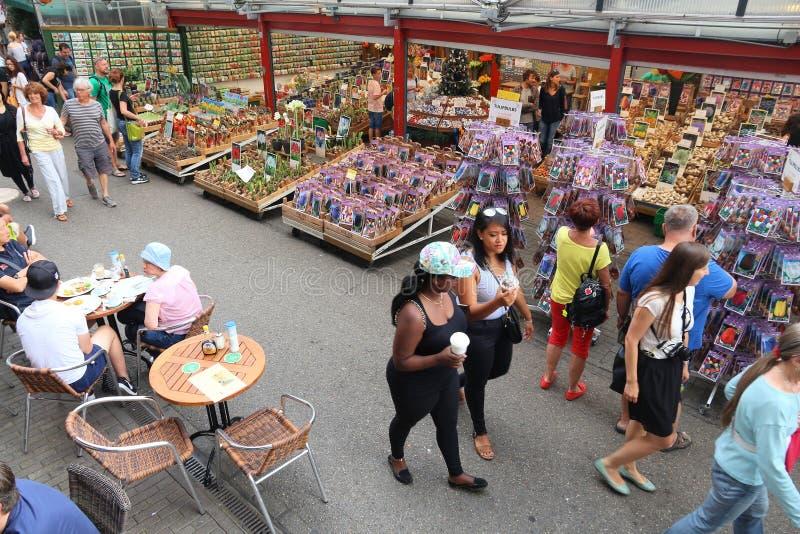 Αγορά λουλουδιών του Άμστερνταμ στοκ εικόνες