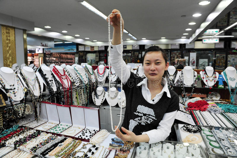 Αγορά μαργαριταριών στο Πεκίνο, Κίνα στοκ φωτογραφία