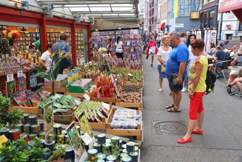 Αγορά λουλουδιών του Άμστερνταμ στοκ φωτογραφία με δικαίωμα ελεύθερης χρήσης