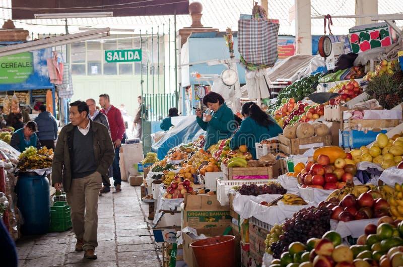 Αγορά σε Cusco, Περού στοκ εικόνα