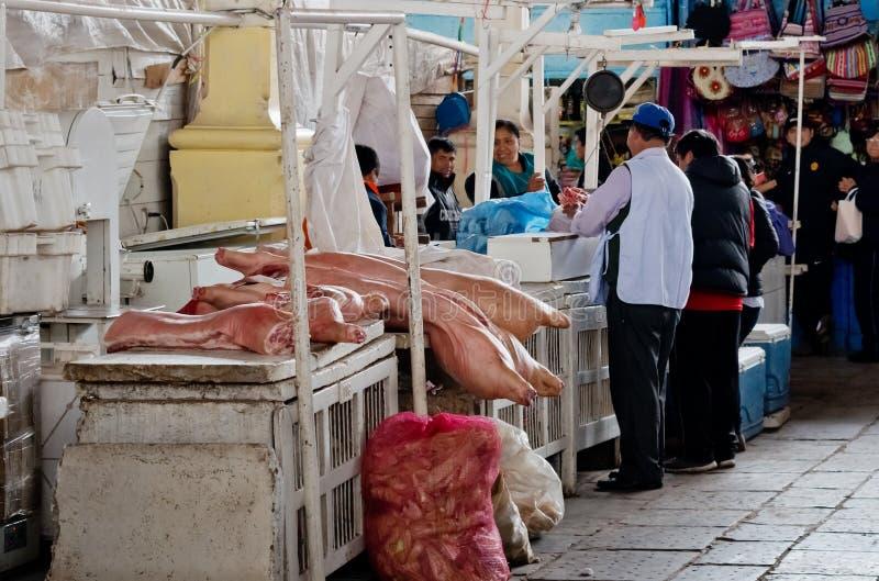 Αγορά σε Cusco, Περού στοκ φωτογραφία με δικαίωμα ελεύθερης χρήσης