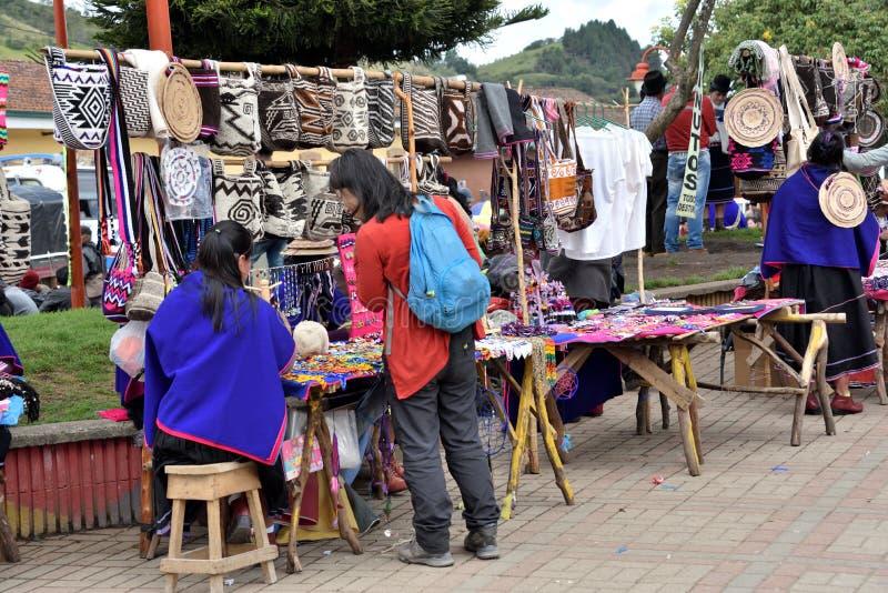 Αγορά στη Silvia, Κολομβία στοκ φωτογραφία