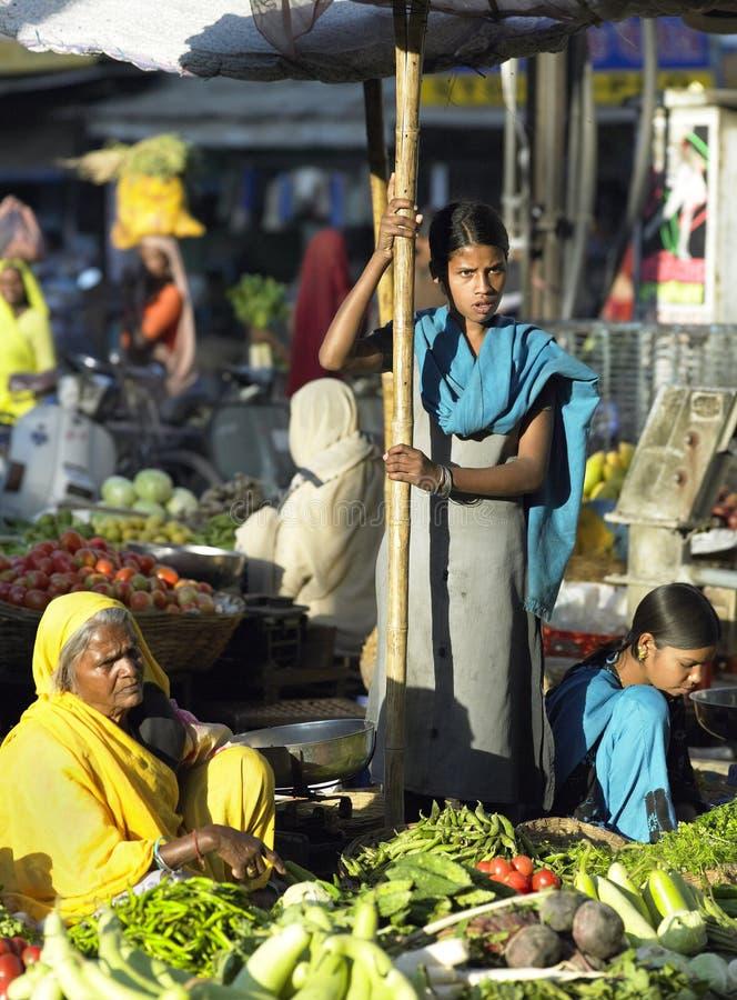 αγορά της Ινδίας τροφίμων udaipu στοκ φωτογραφία με δικαίωμα ελεύθερης χρήσης