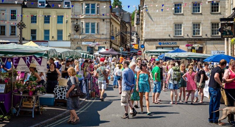 Αγορά της Κυριακής Frome στοκ φωτογραφίες με δικαίωμα ελεύθερης χρήσης
