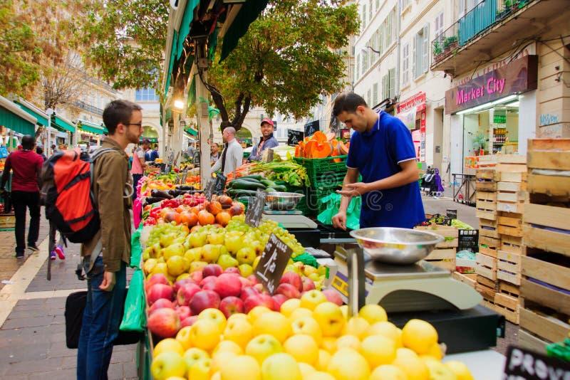 Αγορά τροφίμων Capucins στοκ εικόνα
