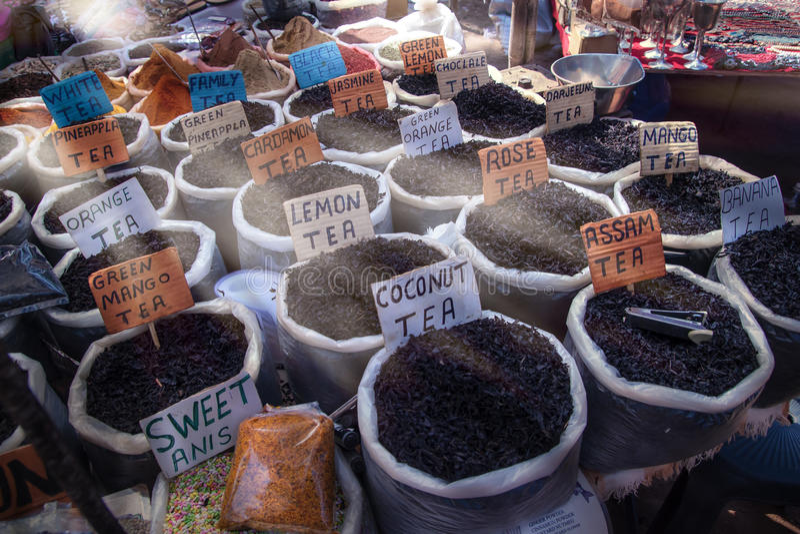 Αγορά τσαγιού στοκ φωτογραφία