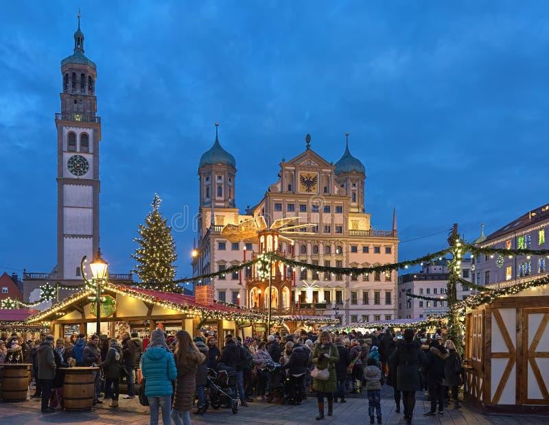 Αγορά Χριστουγέννων στο Άουγκσμπουργκ, Γερμανία στοκ εικόνα