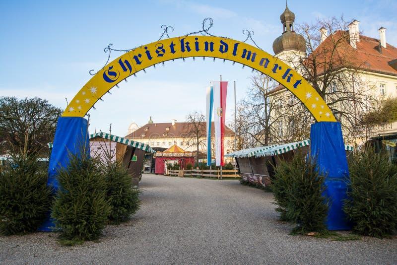 Αγορά Χριστουγέννων Christkindlmarkt στοκ φωτογραφία με δικαίωμα ελεύθερης χρήσης