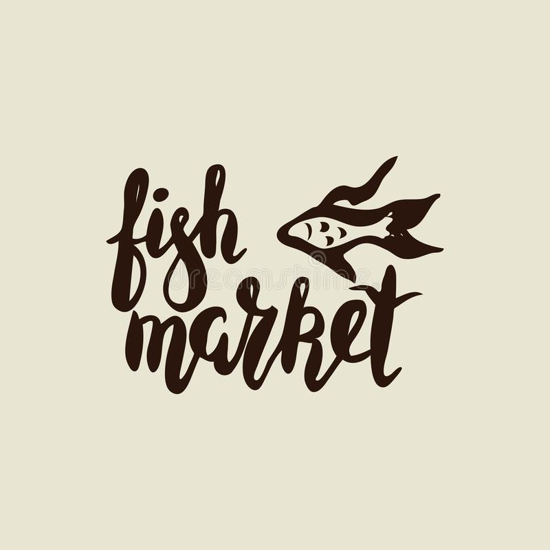 Αγορά ψαριών με τα ψάρια στοκ φωτογραφία
