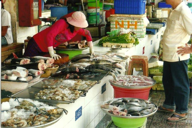 Αγορά ψαριών πόλεων Χο Τσι Μινχ στοκ εικόνες