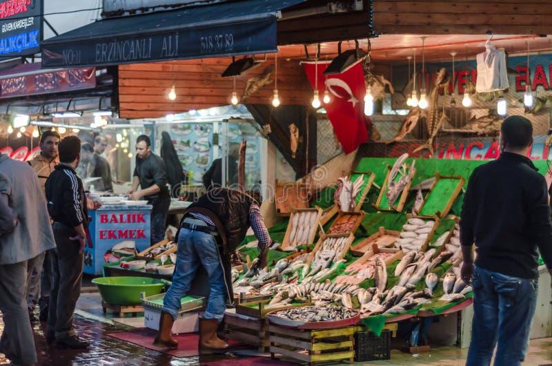 Αγορά ψαριών σε Kumkapı, Ιστανμπούλ στοκ φωτογραφία με δικαίωμα ελεύθερης χρήσης