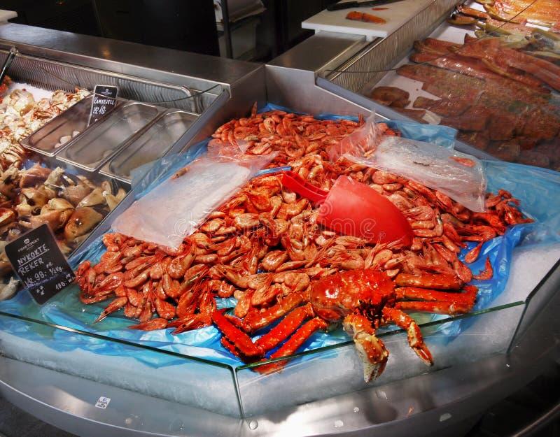 Αγορά ψαριών του Μπέργκεν, Νορβηγία στοκ εικόνες