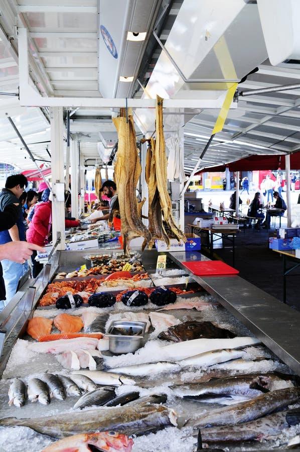 Αγορά ψαριών του Μπέργκεν στοκ φωτογραφίες