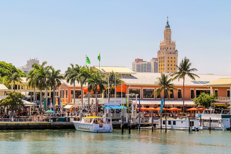 Αγορά Bayside στο Μαϊάμι, Φλώριδα στοκ φωτογραφίες με δικαίωμα ελεύθερης χρήσης
