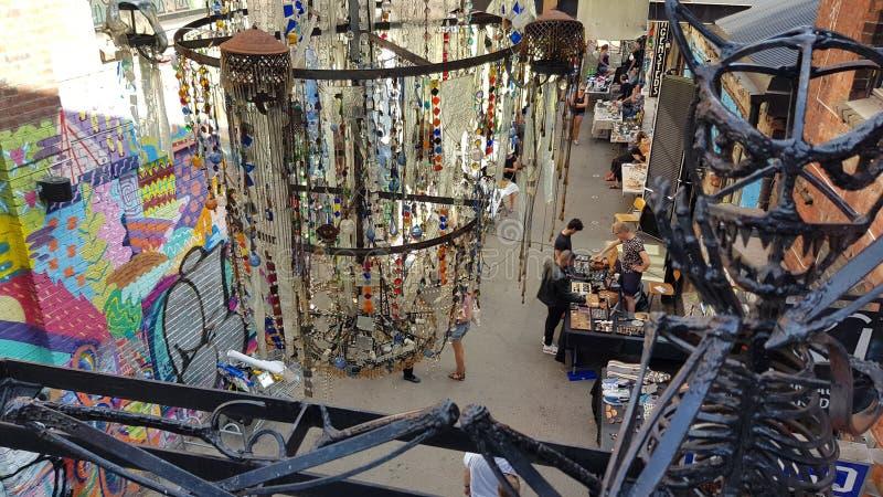 Αγορά Bla Όσλο τέχνης στοκ εικόνες