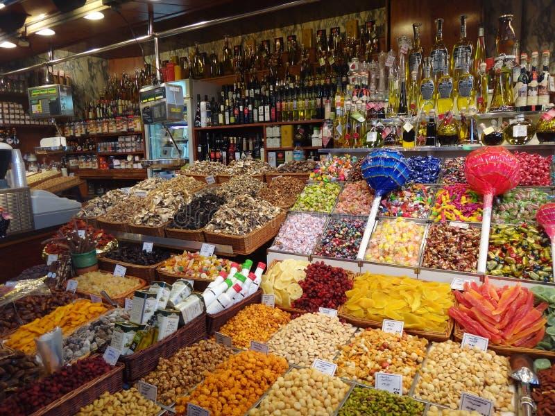 Αγορά Boqueria στοκ εικόνα