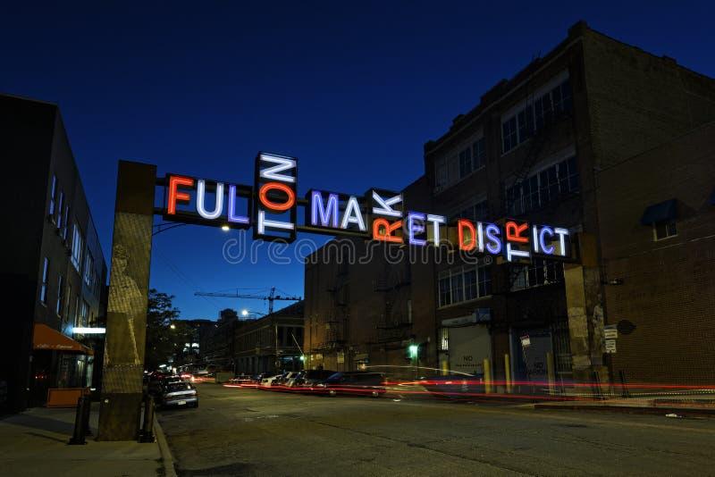 Αγορά Fulton στοκ φωτογραφία