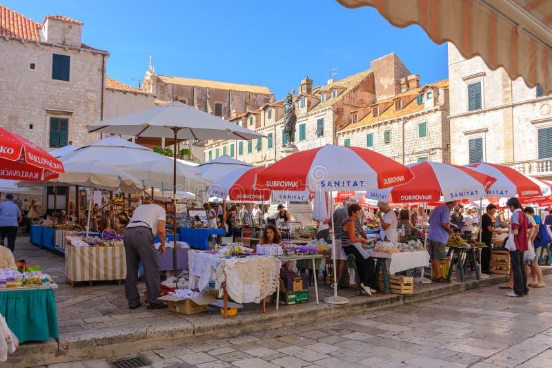 Αγορά Gruz Dubrovnik στοκ εικόνες