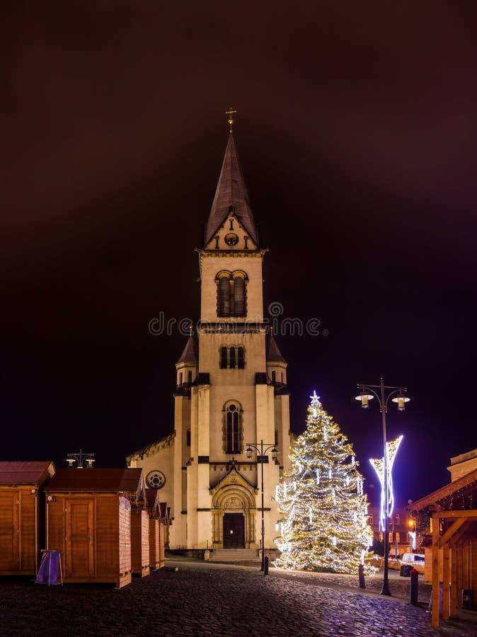 Αγορά hristmas Ð ¡ στο Κλάντνο, Δημοκρατία της Τσεχίας στοκ εικόνες