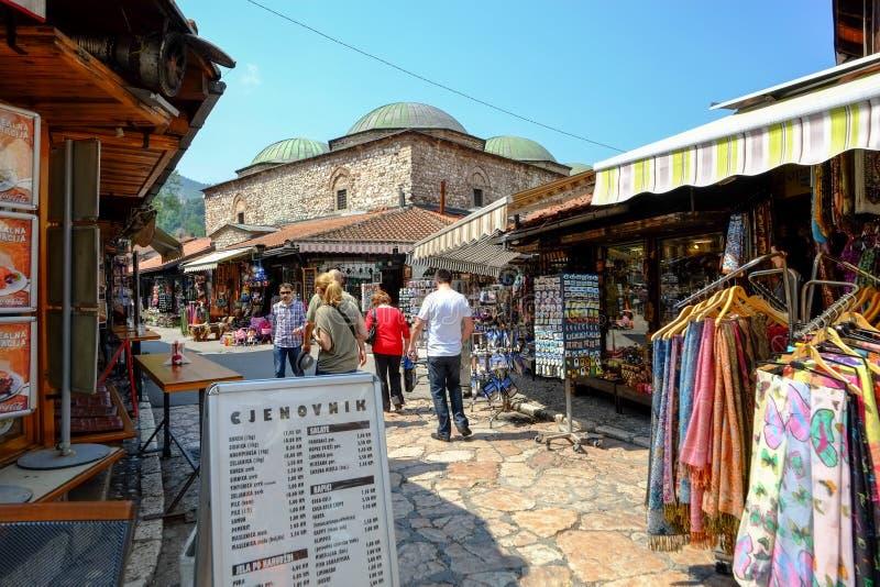 Αγορά ija arÅ ¡ BaÅ ¡ 5$α  στο Σαράγεβο στοκ φωτογραφία