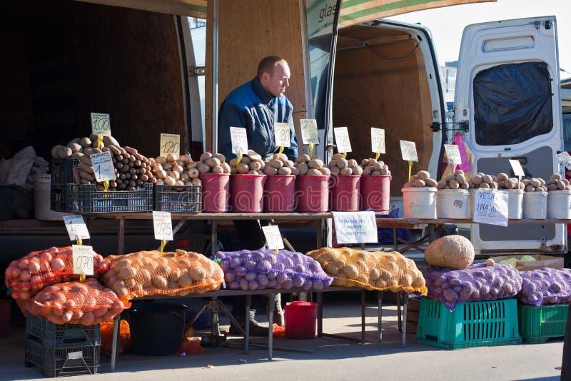 Αγορά Kalvariju στοκ εικόνες με δικαίωμα ελεύθερης χρήσης