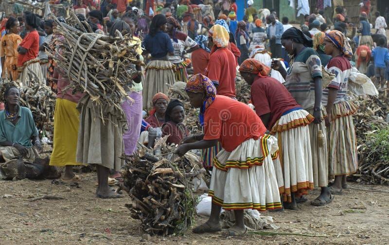 αγορά konso ημέρας στοκ φωτογραφίες