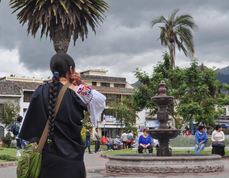 Αγορά Otavalo, Ισημερινός στοκ εικόνα με δικαίωμα ελεύθερης χρήσης