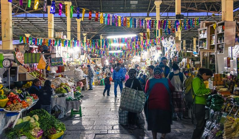 Αγορά SAN Pedro/Cusco/Περού/07-14-2017 στοκ εικόνα