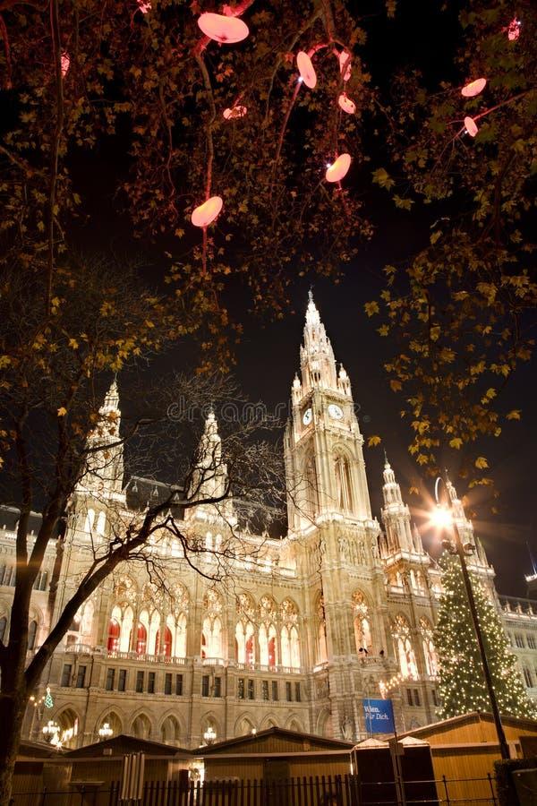 Download αγορά Townhall Βιέννη Χριστουγένν&o Στοκ Εικόνα - εικόνα από australites, πόλη: 17058343