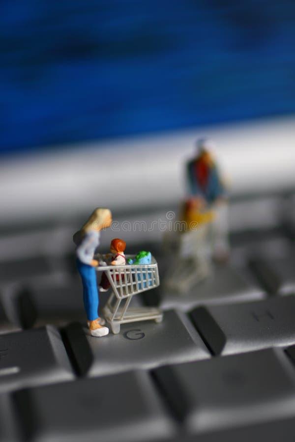 αγορές γραμμών στοκ φωτογραφία με δικαίωμα ελεύθερης χρήσης