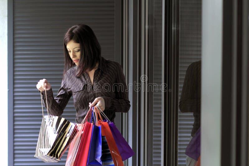 Αγορές γυναικών στοκ εικόνα