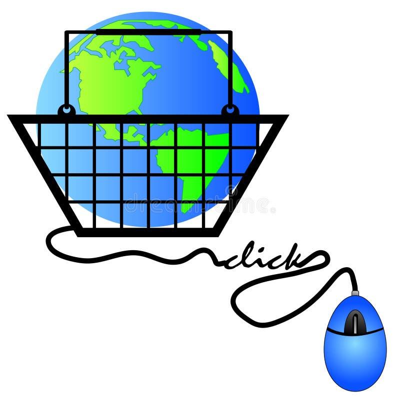 αγορές Διαδικτύου ελεύθερη απεικόνιση δικαιώματος
