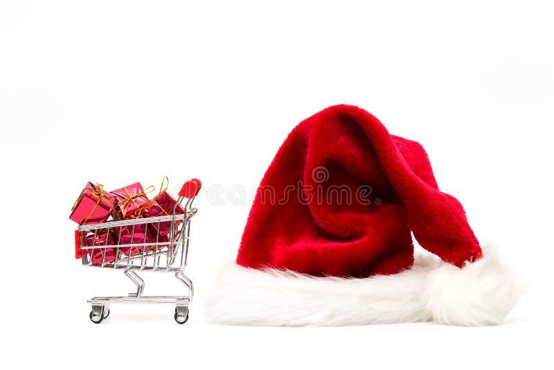 Αγορές διακοπών και έννοια ανταλλαγής δώρων Χριστουγέννων στοκ φωτογραφίες