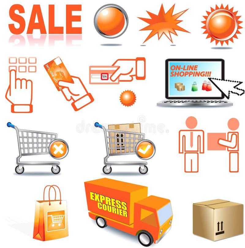 Αγορές Διαδικτύου διανυσματική απεικόνιση