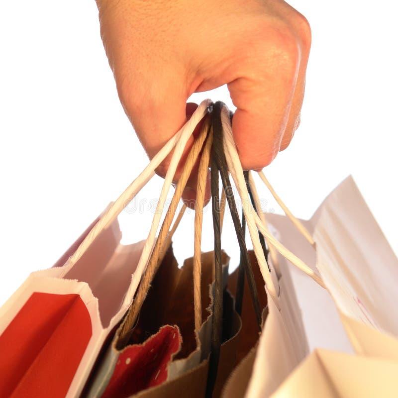 αγορές εκμετάλλευσης χεριών τσαντών στοκ εικόνες