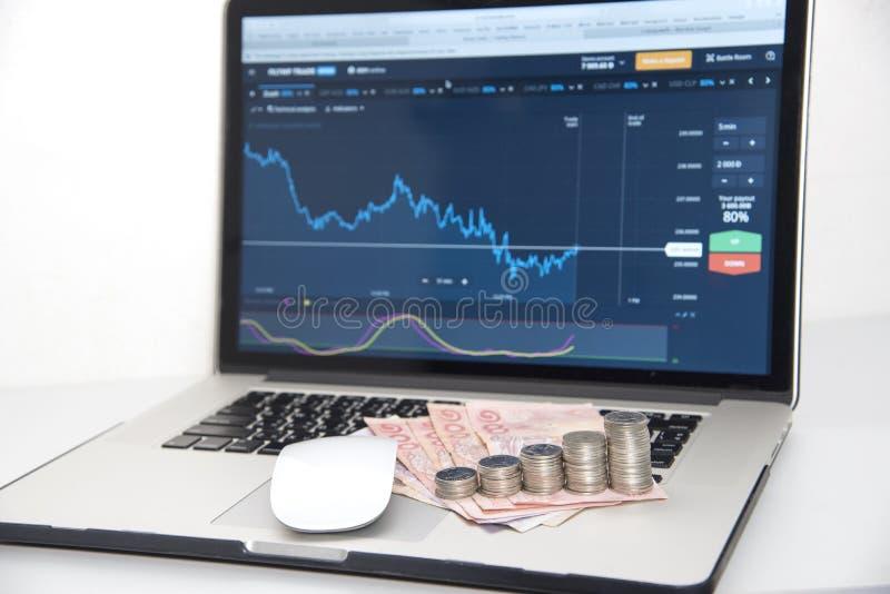 Αγορές εμπορικών συναλλαγών Εμπορικές συναλλαγές νομίσματος Forex στοκ εικόνες με δικαίωμα ελεύθερης χρήσης