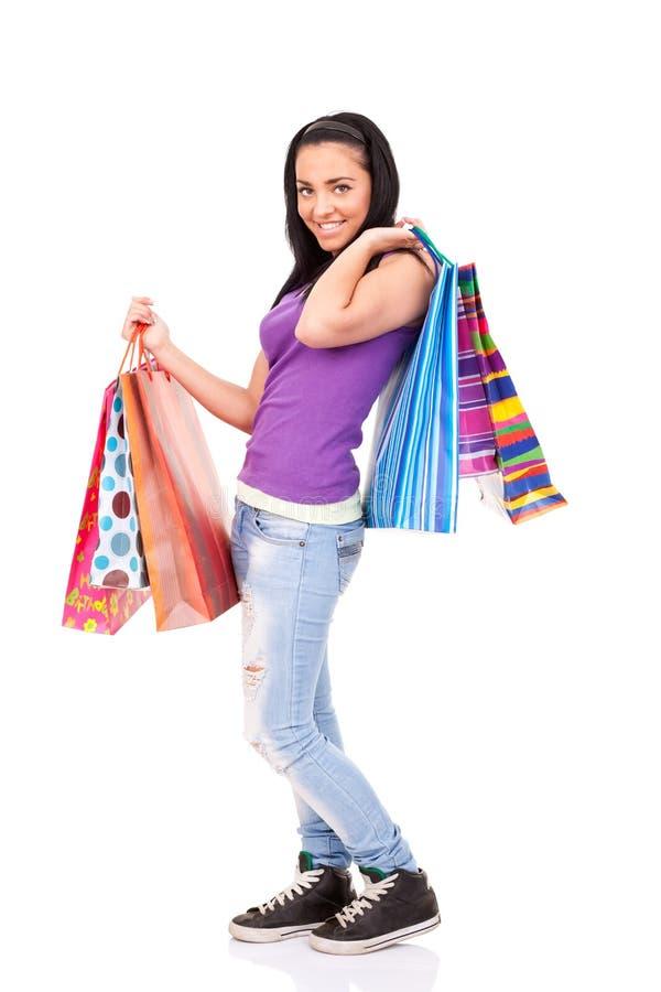 αγορές κοριτσιών στοκ εικόνες