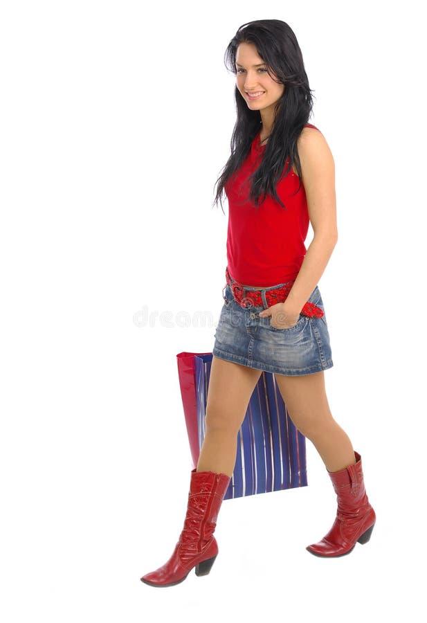 Download αγορές κοριτσιών στοκ εικόνες. εικόνα από λαβή, αγοραστής - 2231064