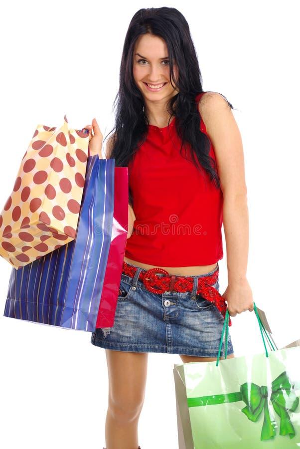 Download αγορές κοριτσιών στοκ εικόνα. εικόνα από απομονωμένος - 2231133