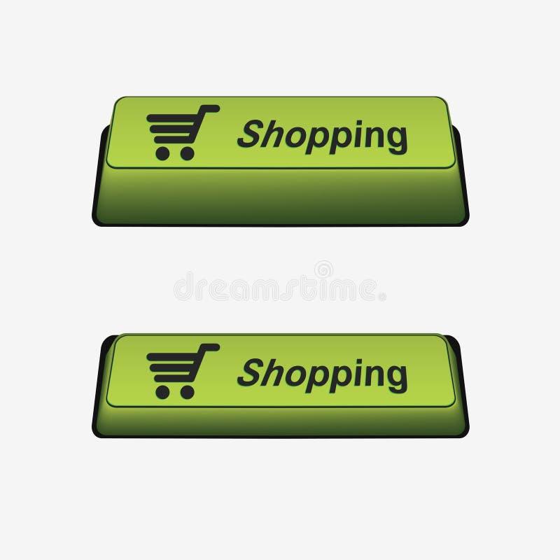 αγορές κουμπιών απεικόνιση αποθεμάτων